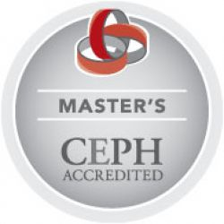 Master's CEPH Accredited badge