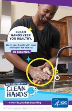 thumbnail of CDC poster on hand washing