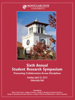 Student Research Symposium Cover for 2012