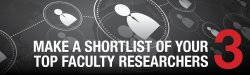 Step 3 - Make a shortlist of your top faculty researchers