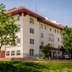 Photo of Partridge Hall, home of the School of Nursing.