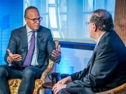 Lester Holt on set for Carpe Diem