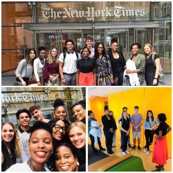SCM Students at The New York Times