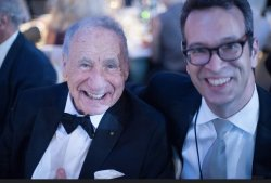 Guy Nicolucci with Mel Brooks