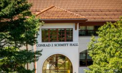 Exterior of Conrad Schmitt Hall.