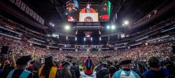 wide-angle view of commencement