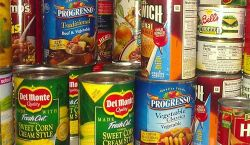 Cans for Citations - sample of canned food items that can be donated to the Red Hawk Pantry to pay for one parking citation