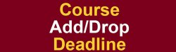 Graphic with words: Course Add/Drop Deadline