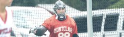 Picture of the Montclair State University Field Hockey goalie.