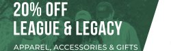 Graphic with League and Legacy sale promotion.