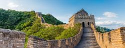 Photo of panoramic view of the Great Wall of China