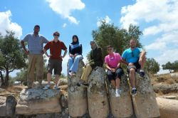 Students at archeological site in Jordan
