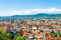 View of skyline of Graz panorama