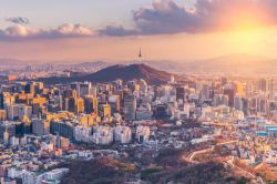 Sunset at Seoul City Skyline, South Korea