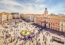 La Puerta del Sol in Madrid from Above