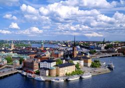 View of Riddarholmen Island in the Centre of Stockholm, Sweden