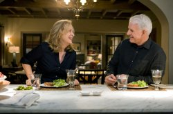 Screenshot from It's Complicated, Meryl Streep laughing with Steve Martin