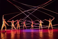 dance performance with ribbons