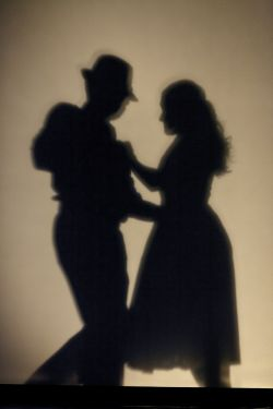 Silhoutte of dancers' shadows