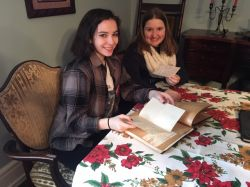 BA Theatre Studies Students Sam Duke and Erin Burns at the Montclair Women's Club.