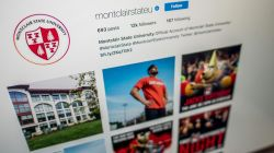 Photo of Montclair State University Instagram account page.