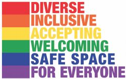Diverse, inclusive, accepting, welcoming, safe space for everyone