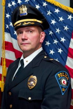 Photo of Montclair State University Chief of Police Paul Cell in uniform.