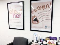 Posters hanging in the Women's Center Office.