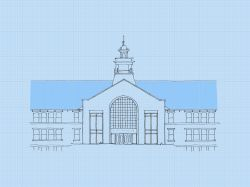 An artists' rendering of the proposed exterior of College Hall