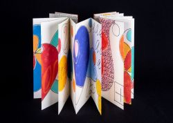 Open pages of a colorful pamphlet