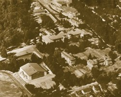 Aerial photo of campus in 1947