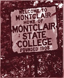 Montclair State College sign