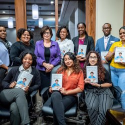 Montclair State students in the Women's Leadership Academy had the opportunity to meet and received signed copies of the memoir by Obama advisor Valerie Jarrett.