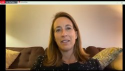Mikie Sherrill in Zoom meeting