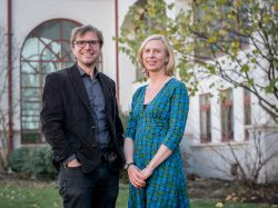 Photo of Associate Professors Pascale LaFountain and Thomas Herold