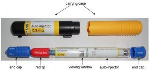 Picture of an epinephrine auto injector